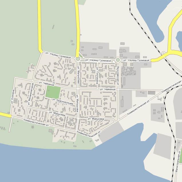 Карта Тольятти - Комсомольский