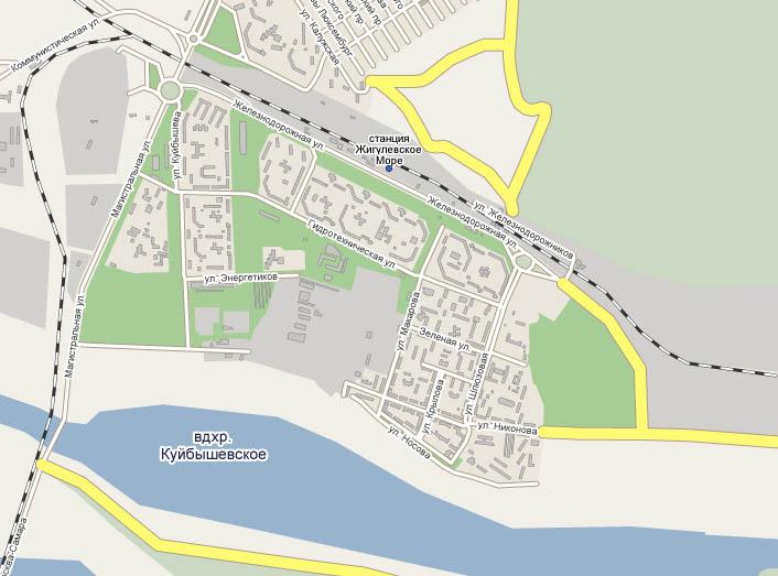 Карта Тольятти - Шлюзовой